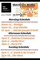 Poster for the first Brave New Words workshops and slam