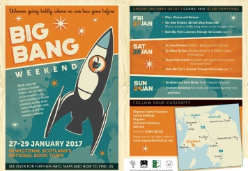 Big Bang weekend, a Wigtown Festival Company women in science event.