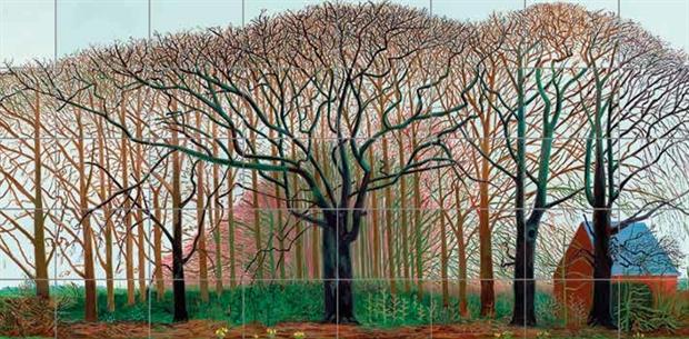 One of David Hockney's Yorkshire landscapes.
