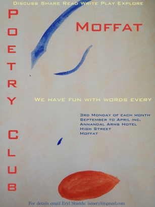 Poetry Club, Moffat, created and run by Eryl Shields INK