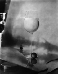 One of my favourite Josef Sudek images, there seems to be a whole landscape reflected in the backdrop which, itself, is odd. I can't quite work out what's going on, and I covet the glass.
