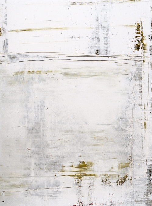 Oil painting, White, by Gerhard Richter