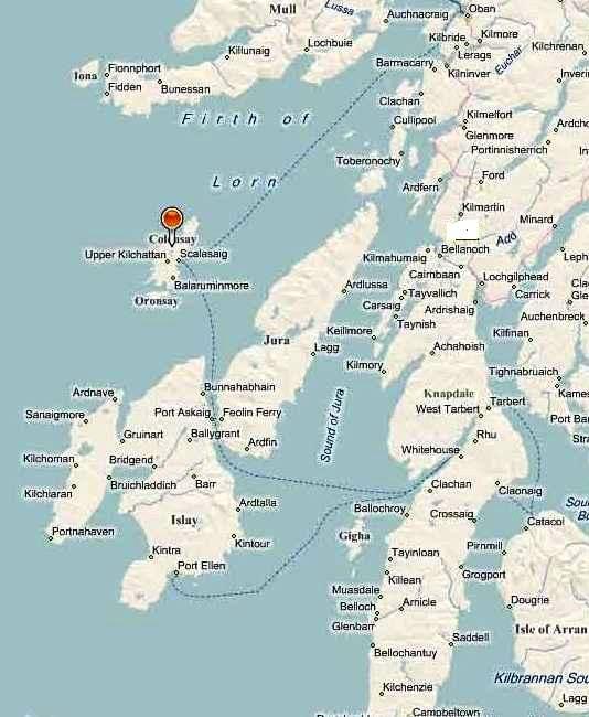 Colonsay Oronsay-Map