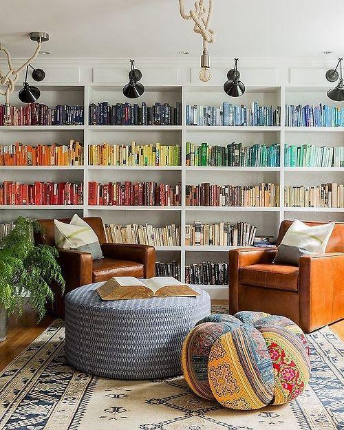 Colour organised books