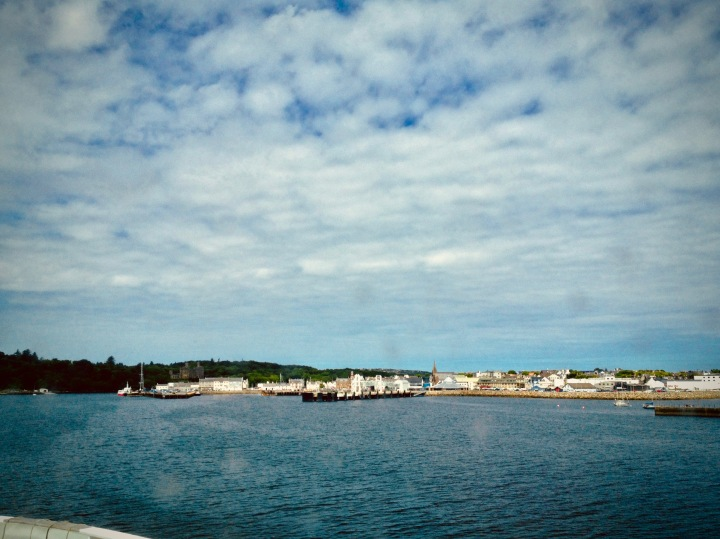 Stornaway from the ferry.