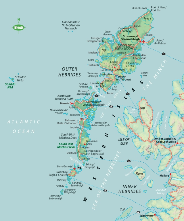 Outer Hebrides map