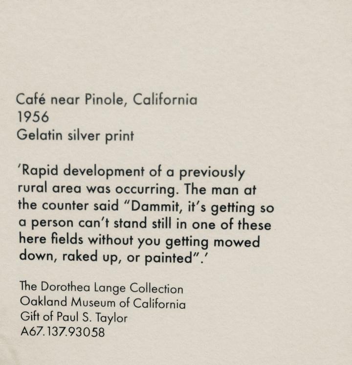 Café near Pinole, California.